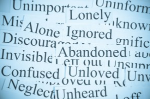 lonely unloved ignored