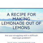 A Recipe For Making Lemonade Out Of Lemons