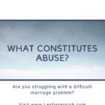 What Constitutes Abuse?
