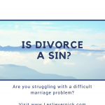 Is Divorce A Sin?