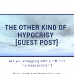The Other Kind Of Hypocrisy [Guest Post]